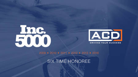ACD named to exclusive Inc. 5000 list for the sixthtime